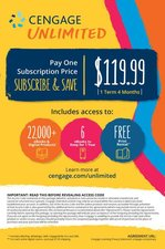Cengage Unlimited, 1 term (4 months) Printed Access Card