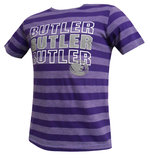 YOUTH, Jersey Crew neck SS tee-Striped Hea/Purple