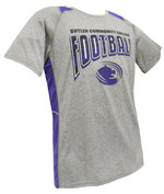 "T - CI Sport ""Savanna"" Youth Football Colorblock Tee -Heather/Purple"