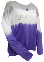 """LS - """"Ladies"""" Shades of Purple Relaxed Dip Dyed Tee"""