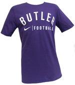 T - Branded purple cotton football tee
