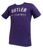 Youth purple football tee