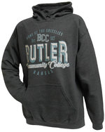 SS - College House Charcoal Hood with blue print