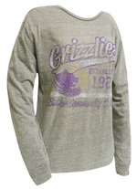 """LS - Heather gray """"washed out"""" tee"""
