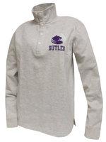 SS - Light gray snap Sweatshirt