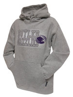 """CI Sport Soft Touch Athletic Heather Hood """"Butler Grizzles"""" with Spotty White Background - Glacis"""
