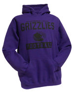 """College House Purple Hoodie Football with """"Butler Community College Grizzlies Football"""" in Black Lettering"""
