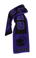 """Spirit Products Purple & Black Scarf """"Grizzly"""" """"Butler"""""""