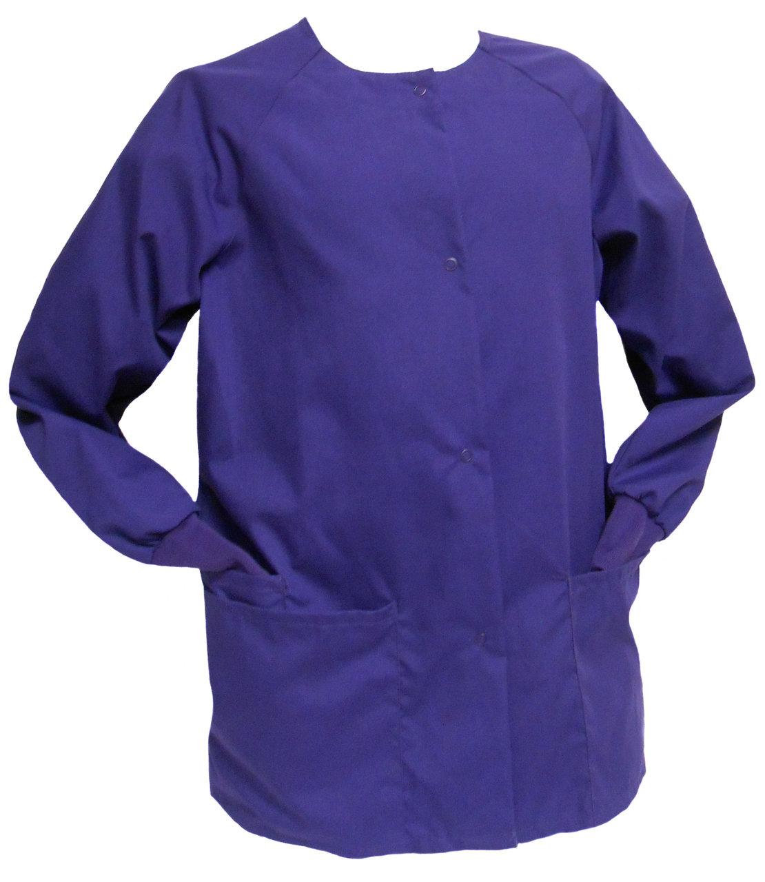 Purple Scrub Jacket. Sizes XS - 5XL | Butler Community College